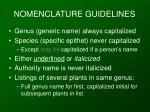 nomenclature guidelines