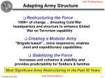 adapting army structure
