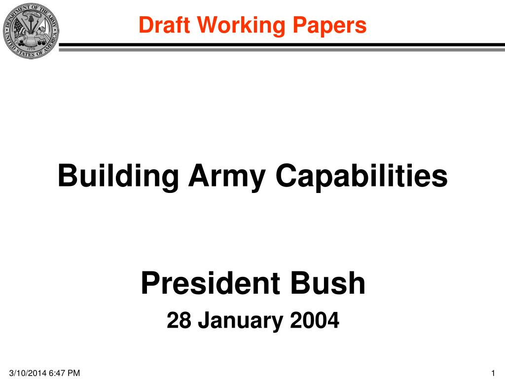 building army capabilities l.