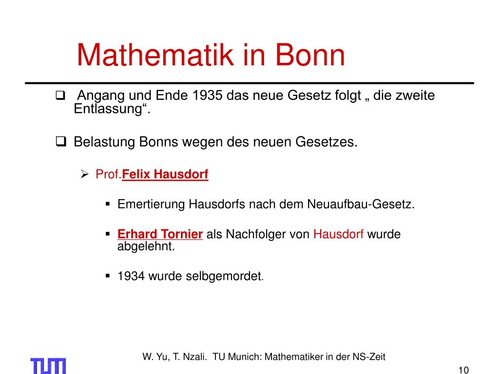 Mathematik in Bonn