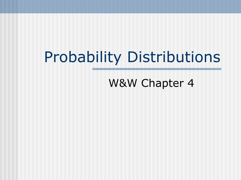 probability distributions l.
