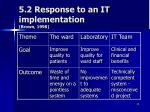 5 2 response to an it implementation brown 1998