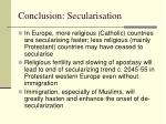 conclusion secularisation