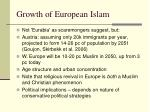 growth of european islam