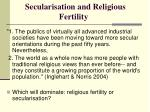secularisation and religious fertility