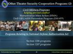 other theater security cooperation programs 2