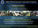 other theater security cooperation programs