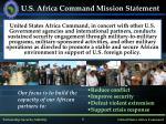 u s africa command mission statement