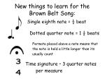 new things to learn for the brown belt song