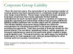 corporate group liability