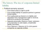 the history the rise of corporate limited liability