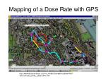 mapping of a dose rate with gps