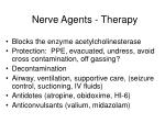 nerve agents therapy