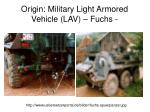 origin military light armored vehicle lav fuchs