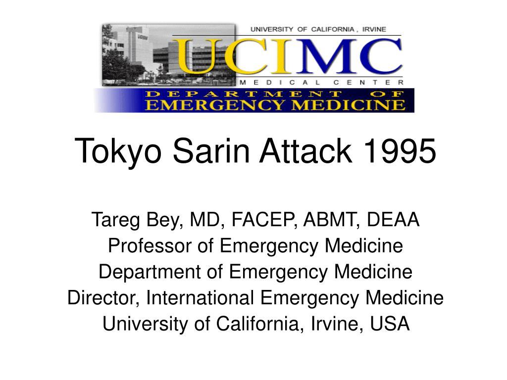 tokyo sarin attack 1995 l.