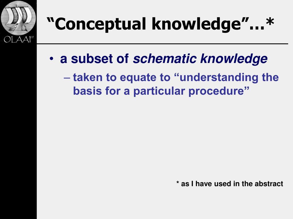 """""""Conceptual knowledge""""…*"""