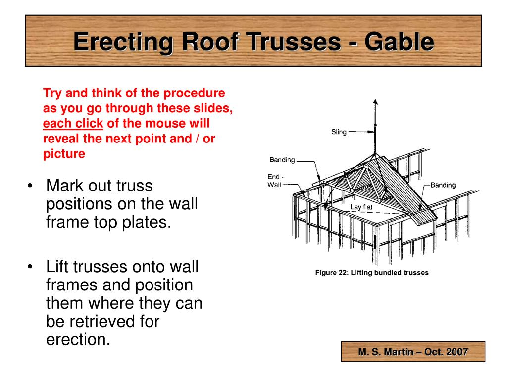 erecting roof trusses gable l.