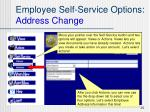 employee self service options address change20