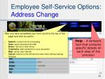 employee self service options address change24