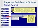 employee self service options direct deposit