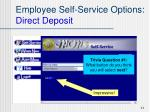 employee self service options direct deposit11