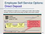 employee self service options direct deposit15