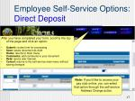 employee self service options direct deposit17