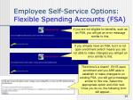 employee self service options flexible spending accounts fsa36
