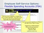 employee self service options flexible spending accounts fsa38
