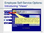 employee self service options introducing views43