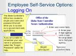 employee self service options logging on7