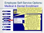 employee self service options medical dental enrollment