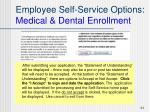 employee self service options medical dental enrollment41
