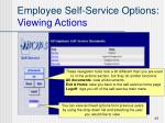 employee self service options viewing actions45