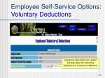 employee self service options voluntary deductions27