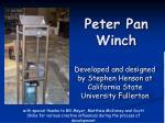 peter pan winch