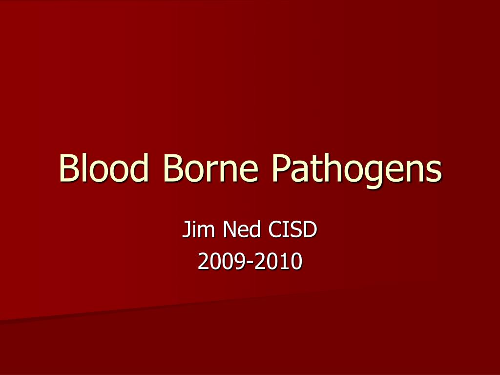 blood borne pathogens l.