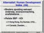 alternatief human development index vn