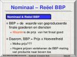 nominaal re el bbp
