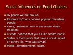 social influences on food choices