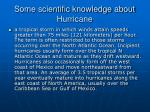 some scientific knowledge about hurricane