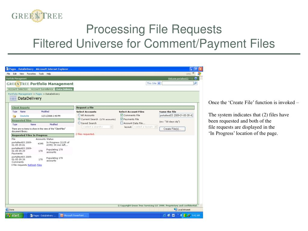 Processing File Requests