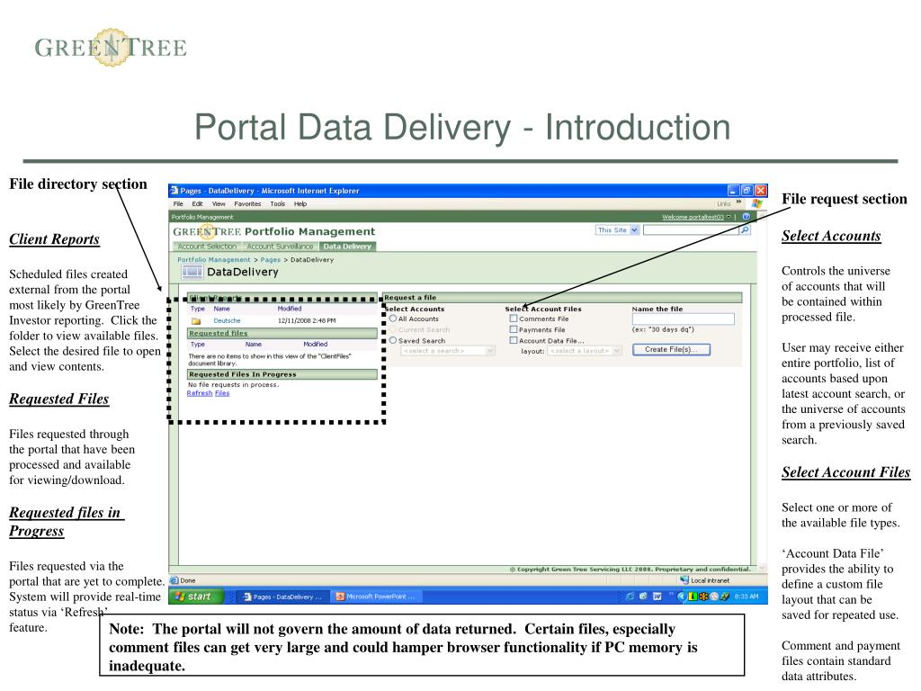 Portal Data Delivery - Introduction
