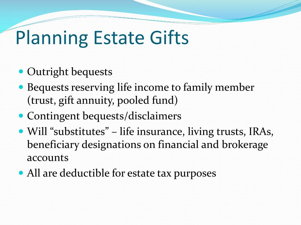 Planning Estate Gifts