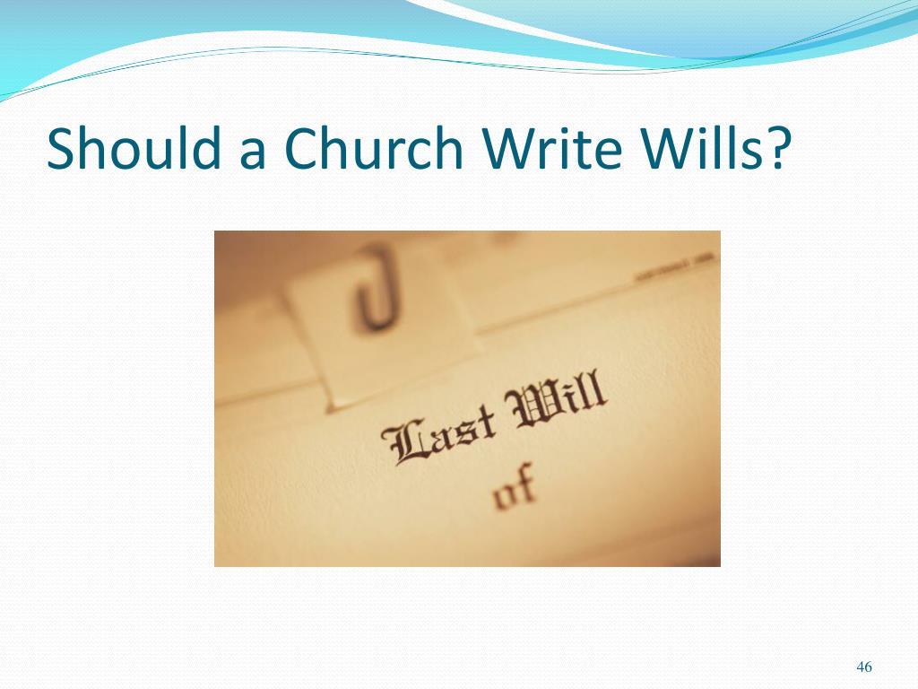 Should a Church Write Wills?