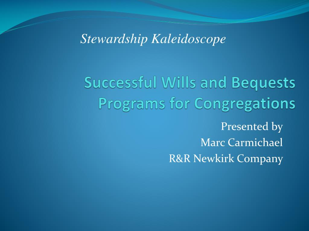 successful wills and bequests programs for congregations l.