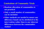 limitations of community trials