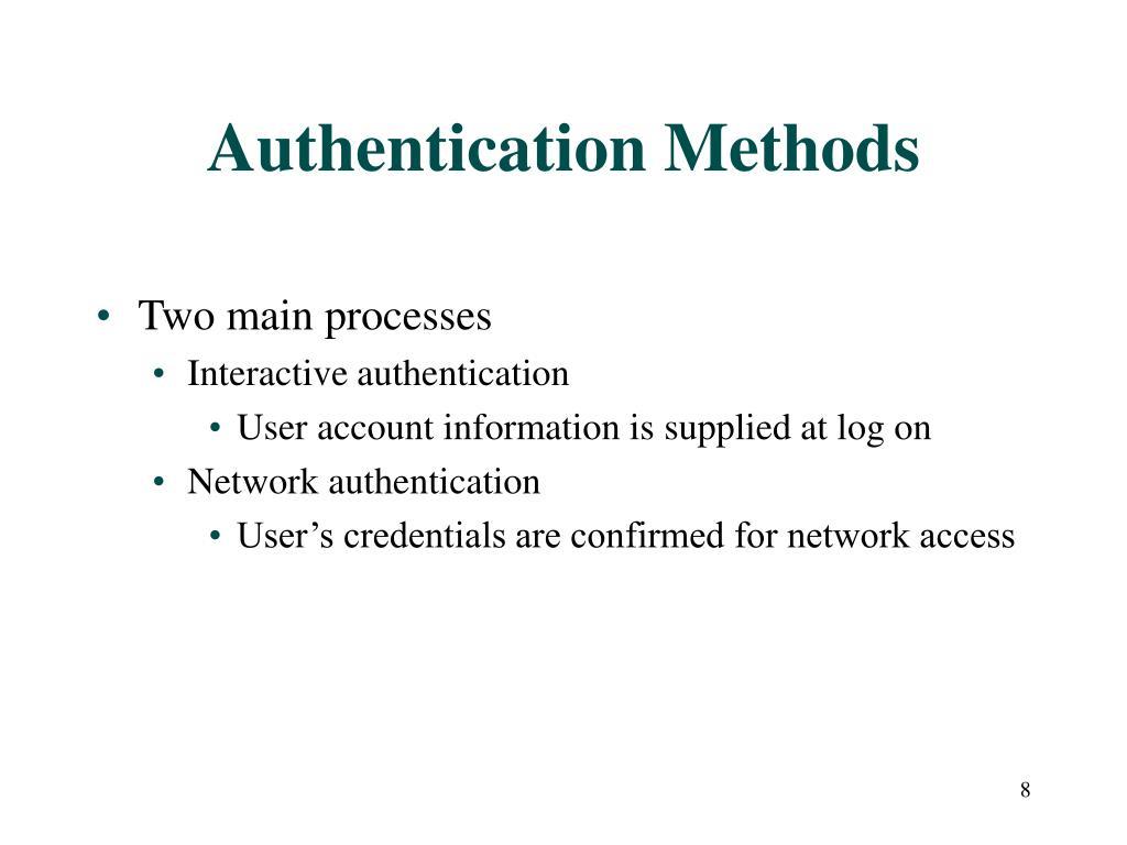 Authentication Methods
