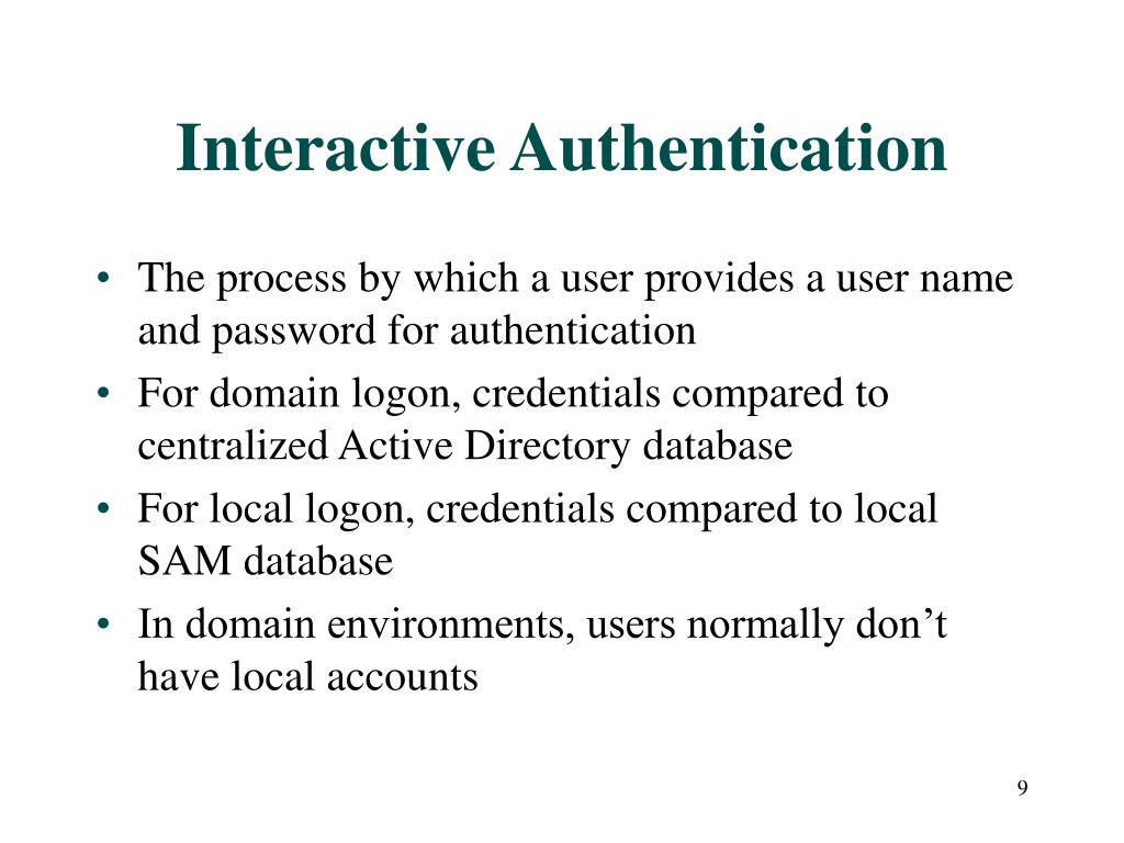 Interactive Authentication