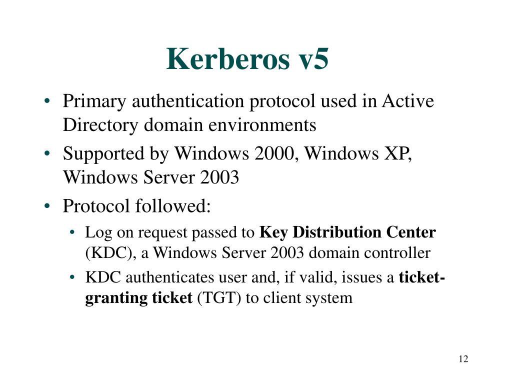 Kerberos v5